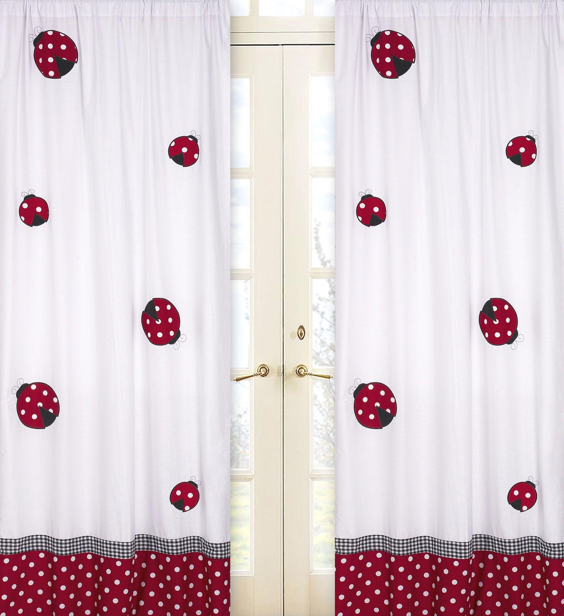 Little ladybug wildlife semisheer rod pocket curtain panels products