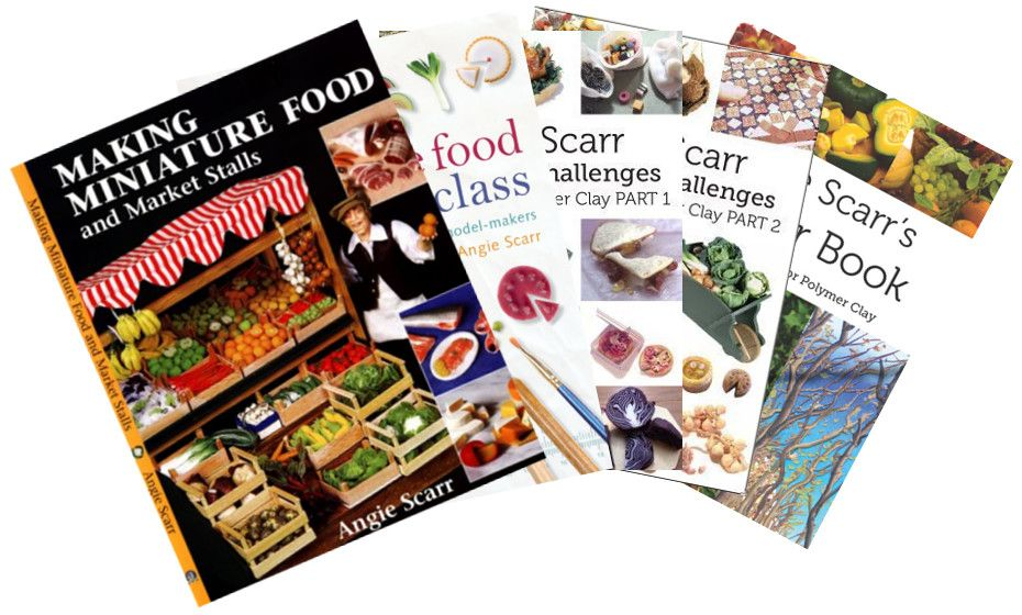 heck out my range of books demonstrating how to make unbelievably realistic miniature food using polymer clay, for everybody ranging from beginners and hobbyists to experienced artists and professionals