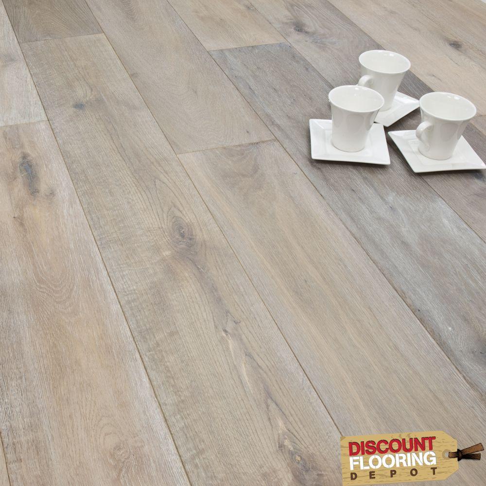 Titanium Series Engineered Flooring X Oak Smoked Brushed U0026 White Oiled    From Discount Flooring Depot UK
