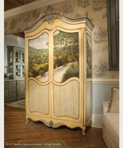 Habersham Handpainted Armoire. Too Much For Me, But Wish I Could Do It!