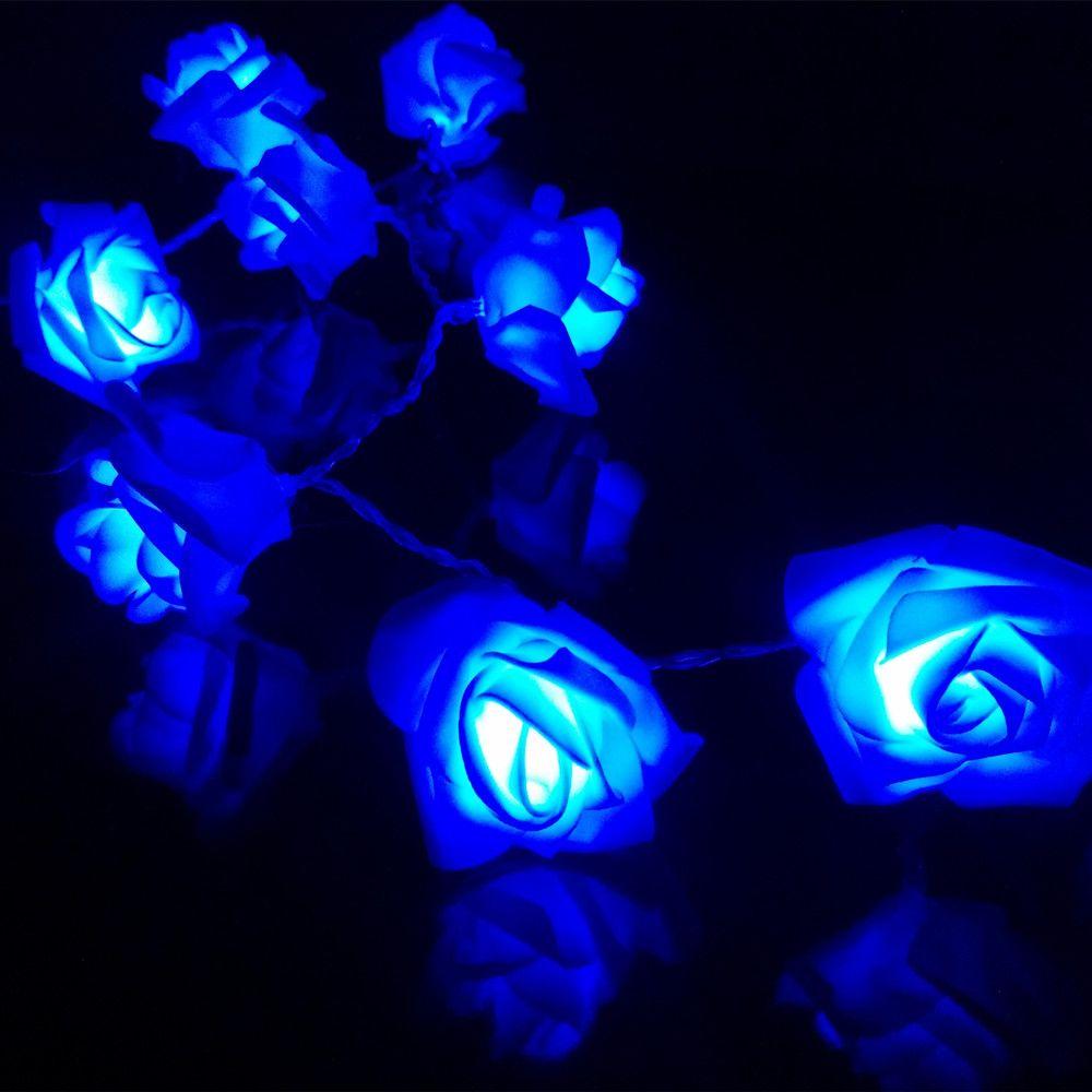 2 M/3 M/4 M/5 M Fiore della Rosa LED Luci Della Stringa Della Batteria di san Valentino Colorful Rosa Festival Festa Di Natale Giardino Camera Da Letto lumiere