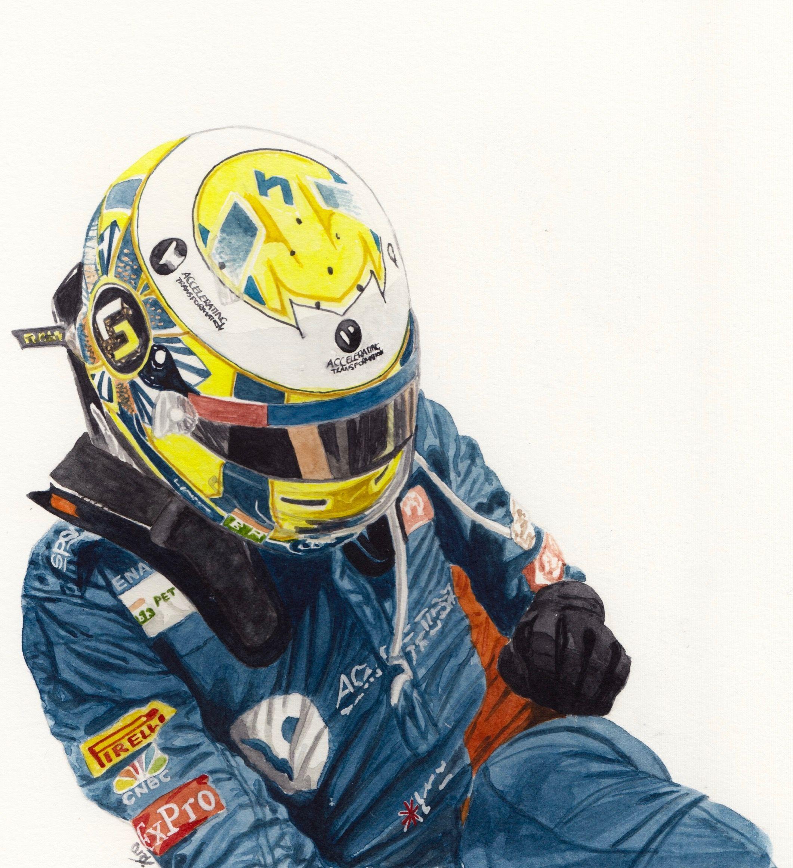 Lando Norris Watercolour Painting Norris F1 S F1 Drivers