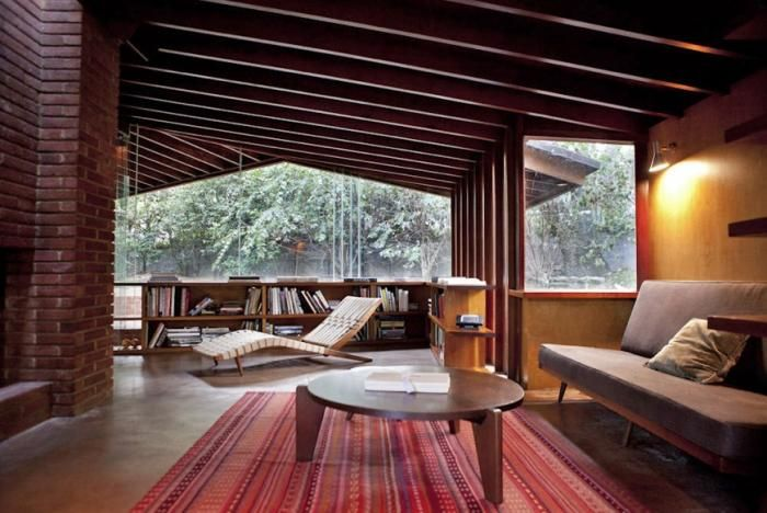 Living Room from Midcentury House by Architect John Lautner, Remodelista