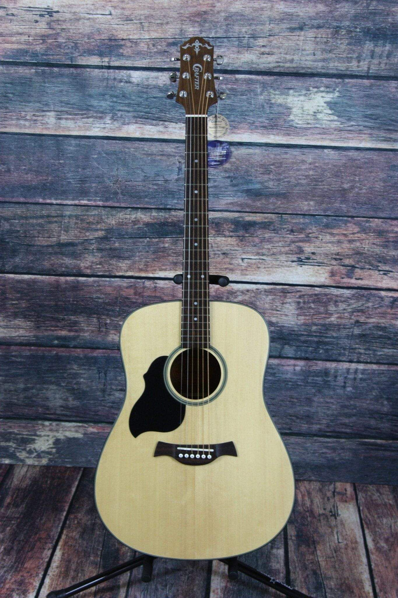 Crafter Left Handed Lite D Solid Top Dreadnought Acoustic Guitar Guitar Left Handed Acoustic Guitar Acoustic Guitar