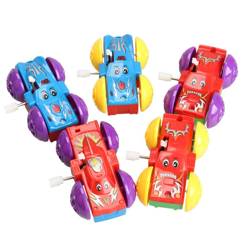 Funny Somersault Bounce Cars Two-sided Pattern Clockwork Toys Gifts MTY3