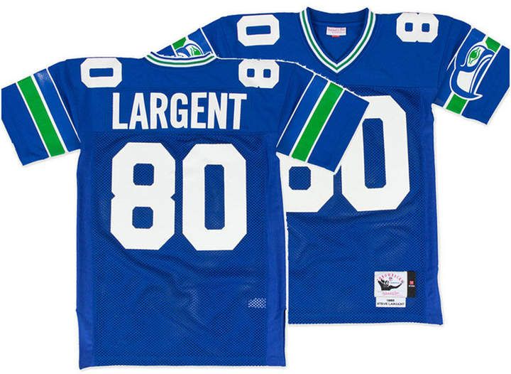 new style 82afe a43c1 Mitchell & Ness Men Steve Largent Seattle Seahawks Authentic ...