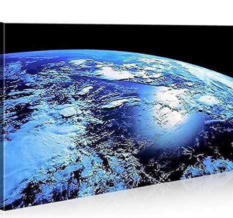 islandburner Bild Bilder auf Leinwand Blue Planet Erde Planet 1p XXL