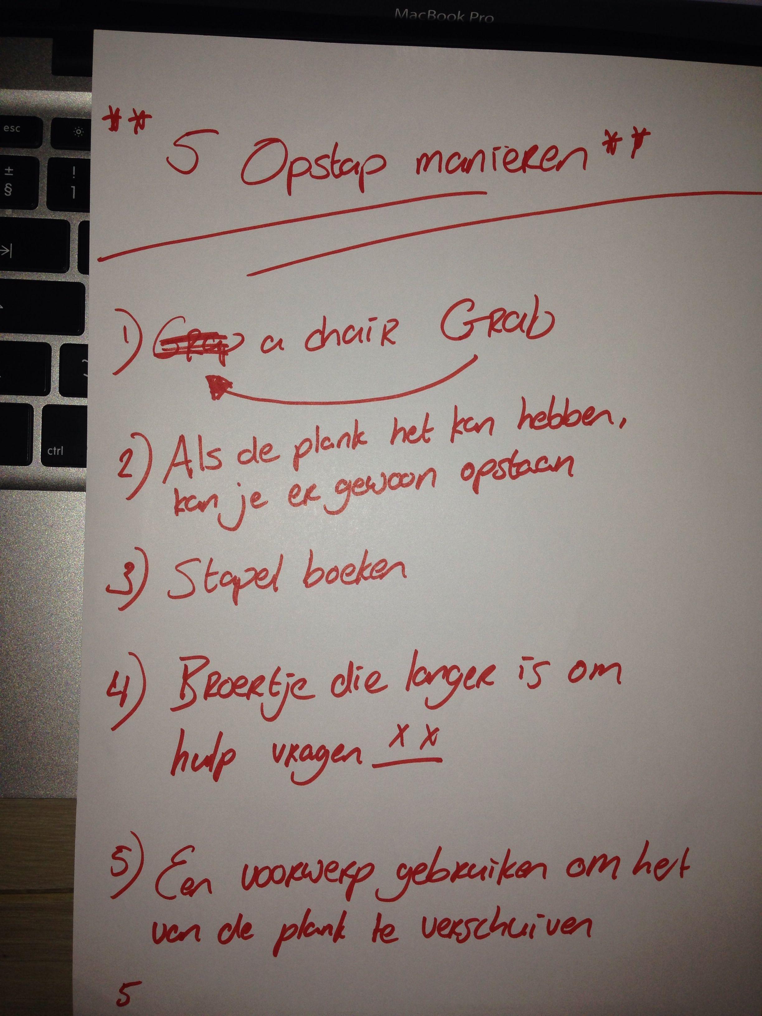 5 Opstap manieren