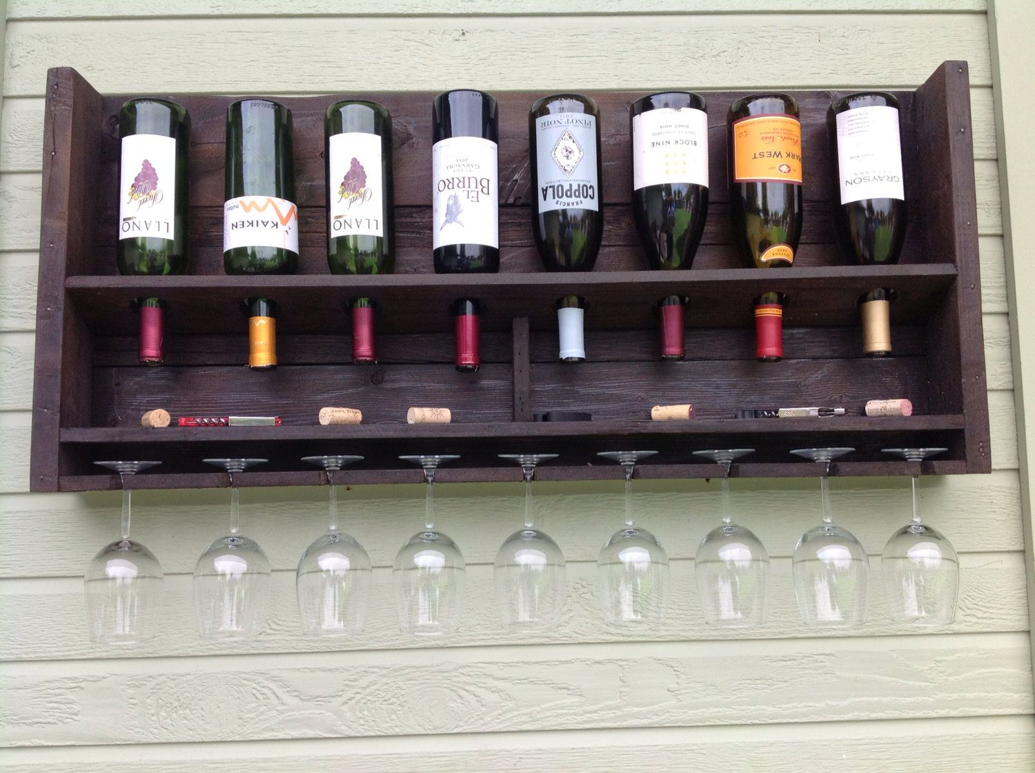 Wine Racks For Home: Free Shipping Simplistic Reclaimed Wood Wine By
