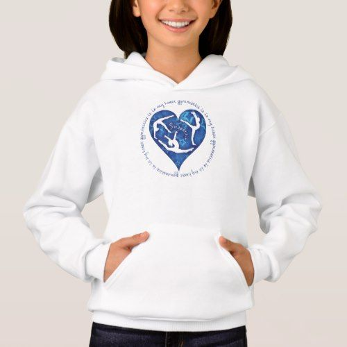 Gymnastics Is In My Heart Girls Hooded Sweatshirt