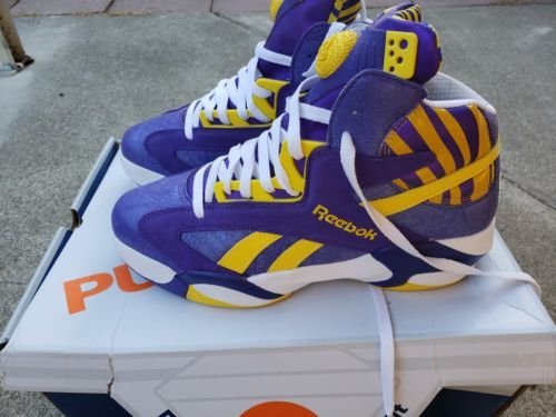 954eeec3ba1 Reebok Men s SHAQ ATTAQ The Pump LSU TIGERS Basketball Shoe M40343 SZ 10.5