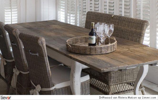 Driftwood Riviera Maison Stoelen Tafels Idee N Voor Het Huis Home Pinterest Dining