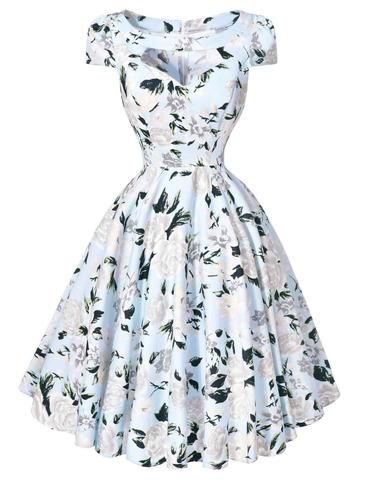 d91fb624accf Vintage Party Swing Dresses | Outfit Inspiration | Retro dress ...