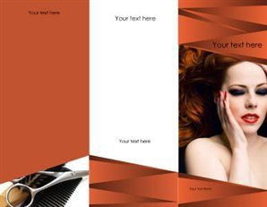 Free Printable Beauty Salon Spa Brochure Templates  Brother