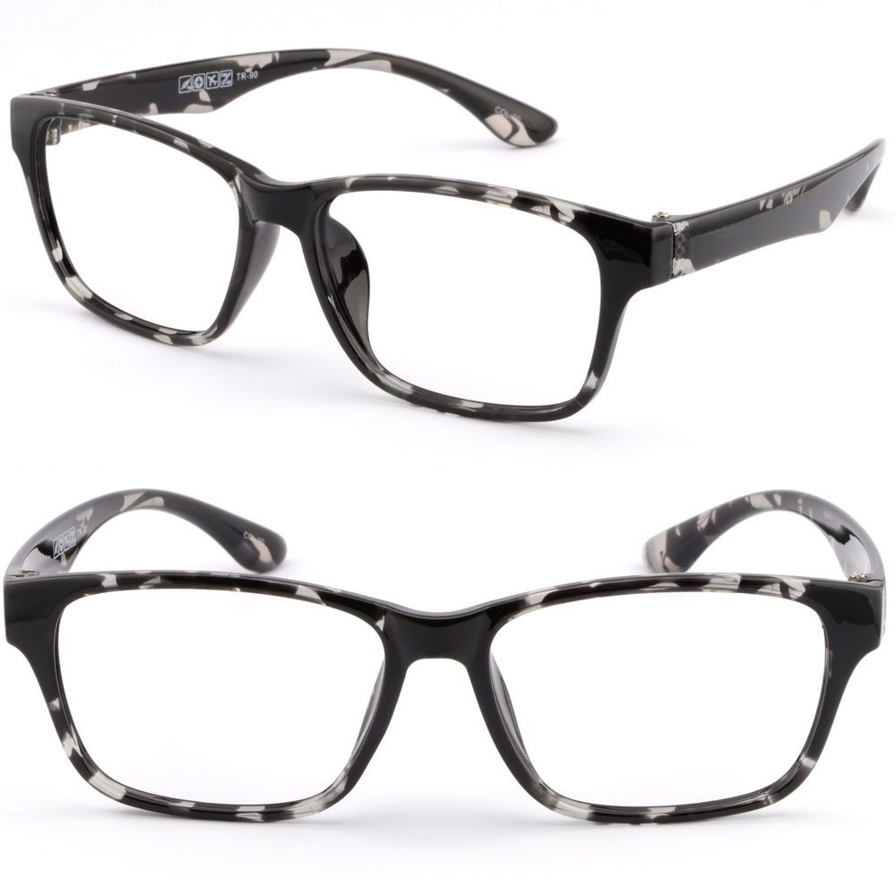 Square Men Women Plastic TR90 Bendable Frame Prescription Glasses ...