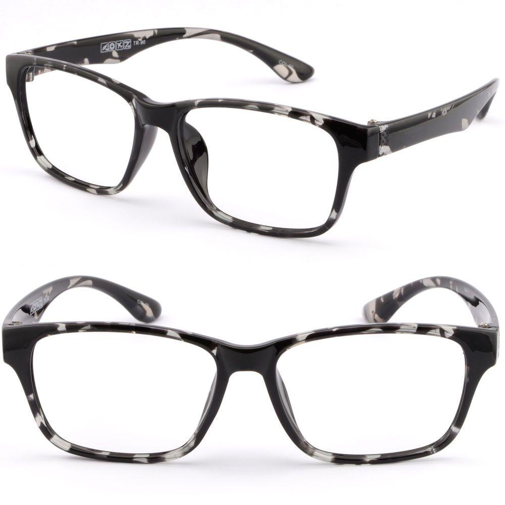 Square Men Women Plastic TR90 Bendable Frame Prescription Glasses ...