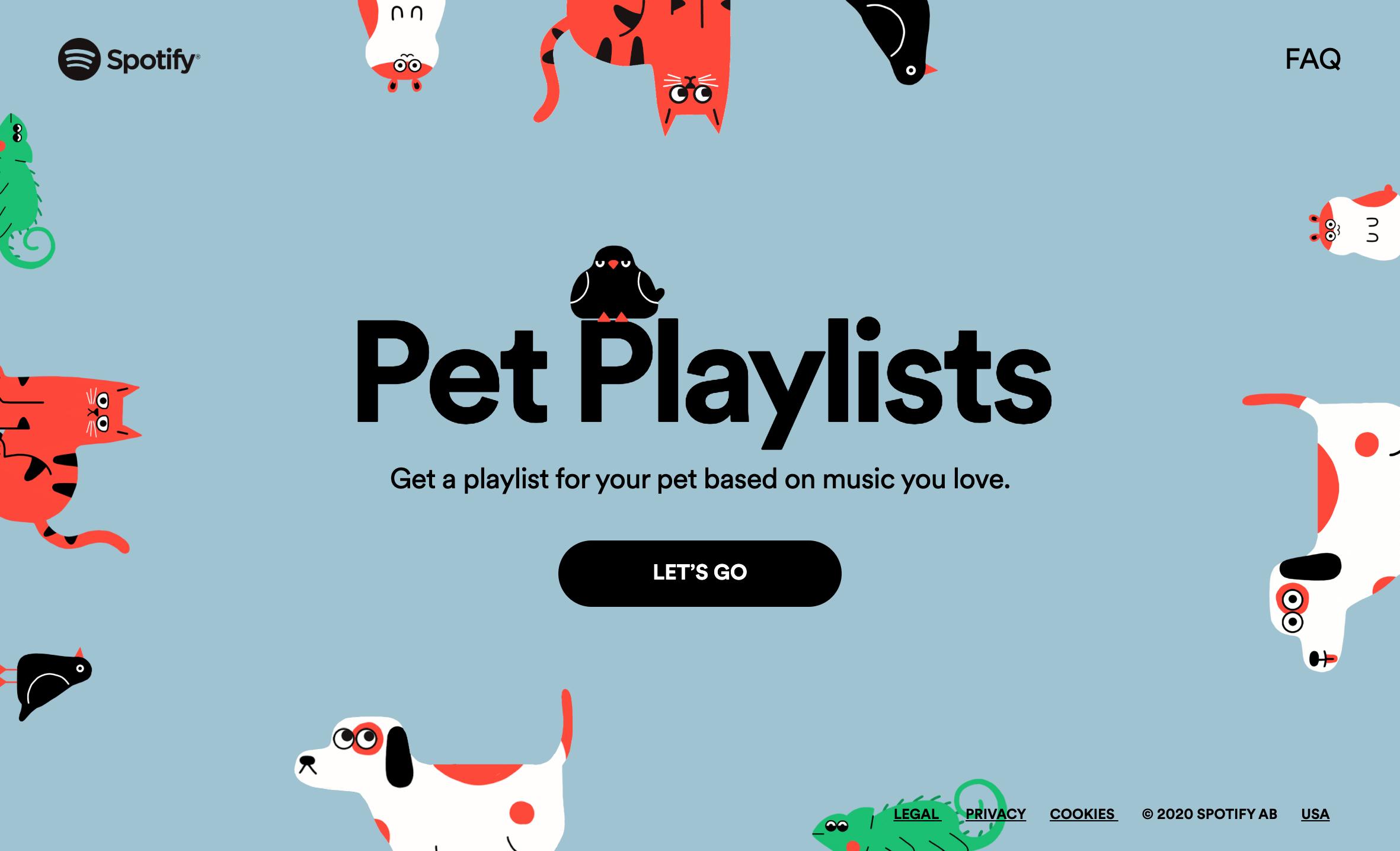 Spotify Ha Lanciato Un Nuovo Generatore Di Playlist Che Piacera A Te E Al Tuo Animale Domestico Si Tratta Di Una Selezione Nel 2020 Playlist Animali Domestici Musicale
