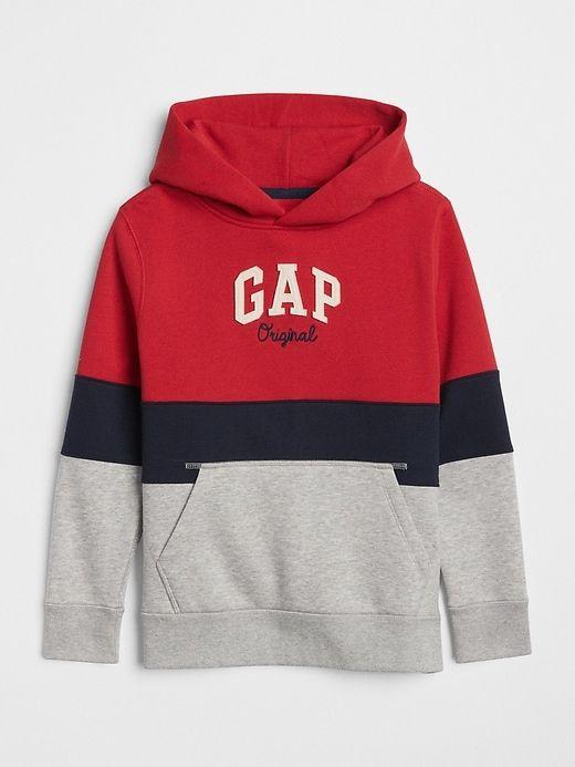 Gap Boys Logo Pullover Hoodie Sweatshirt Modern Red Mens Sweatshirts Hoodie Sweatshirts Hoodie Stylish Hoodies
