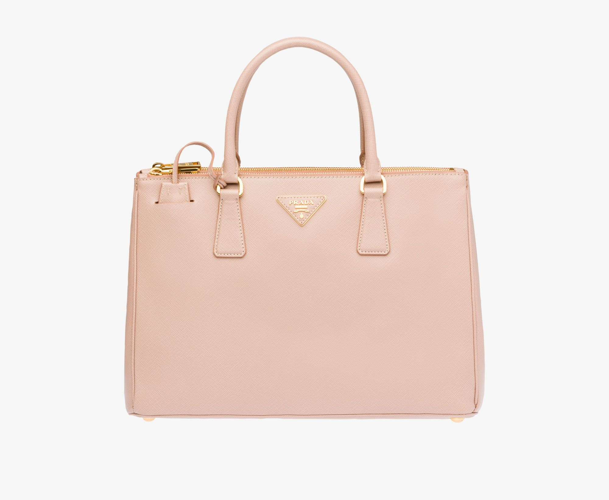 9203c38dbbf60 Prada Galleria Saffiano leather bag Double leather handle Detachable  adjustable leather shoulder strap Gold-plated hardware Metal lettering logo  on leather ...