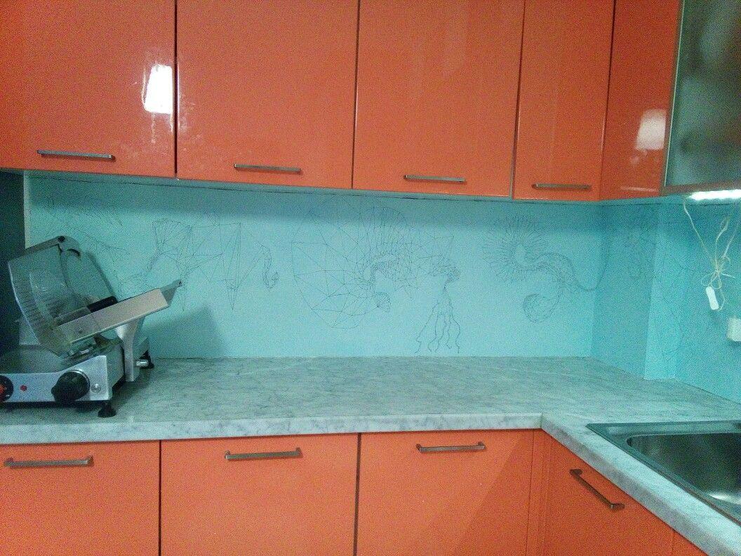 Pittura Su Piastrelle Cucina : Pin by jana on cucina parete di fondo colla per piastrelle