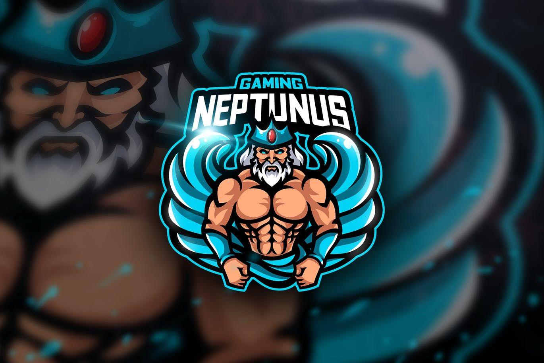 Neptunus Gaming Mascot & Esport Logo by aqrstudio on