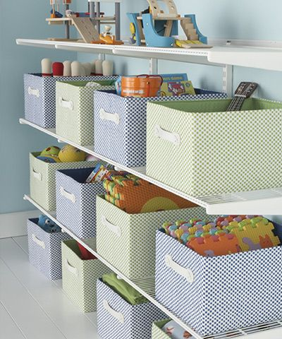 Attractive Toy Storage Tips  The Container Store (customer Tips Too  Lots Of Great  Ideas: Underbed Storage Bins To Preserve Legos Mid Project, Narrow Shelves  Behind ...