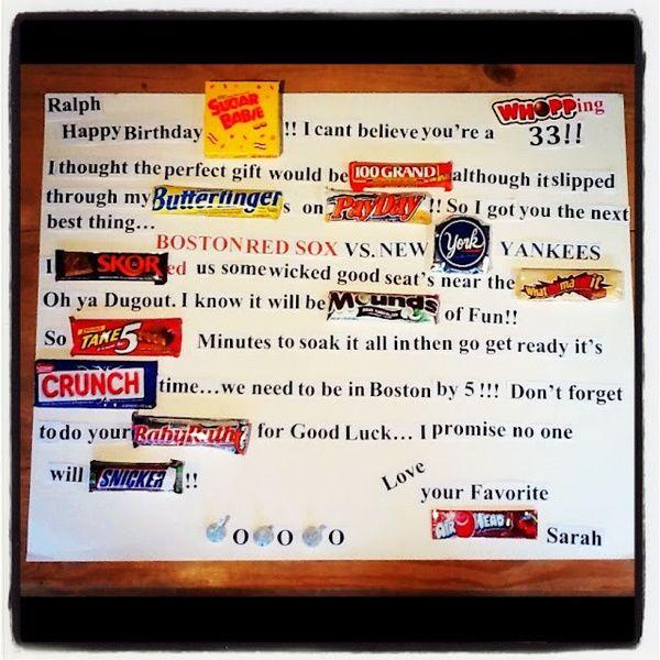 Happy Birthday Idea Using Candy Bars Sarahreneeleev Shoesnails