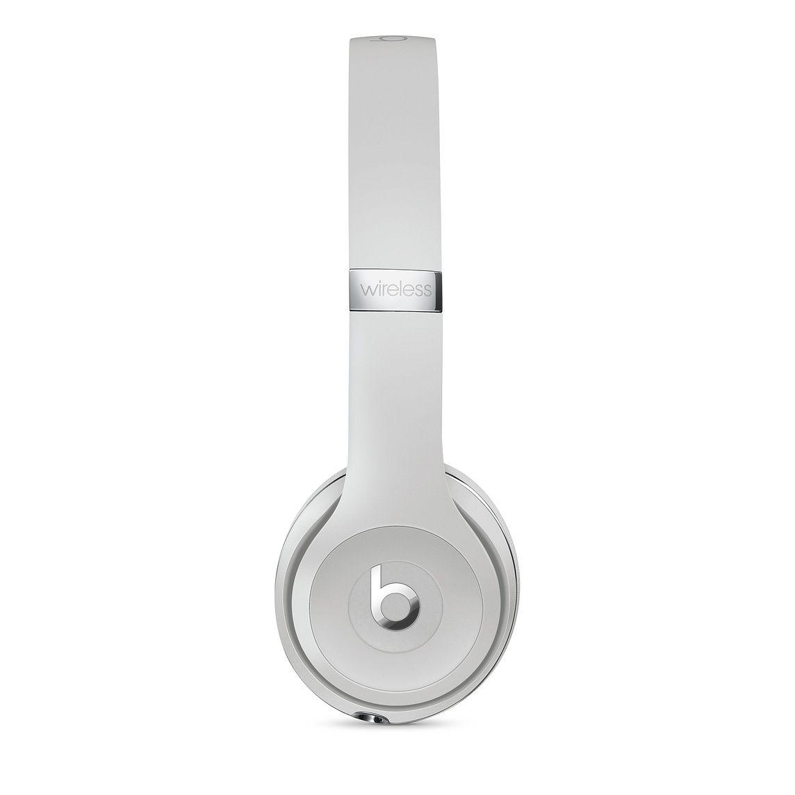 Beats Solo3 Wireless Headphones Satin Silver Apple Wireless Headphones Headphones Black Headphones