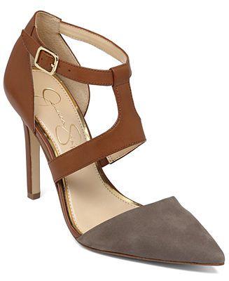 a3ffc7c94433 Jessica Simpson Campsonne T-Strap Pumps - Sale   Clearance - Shoes - Macy s