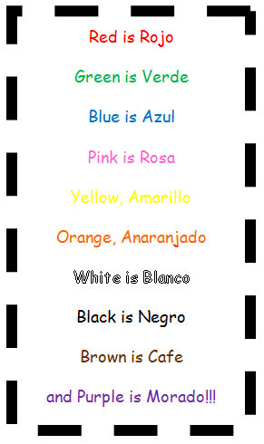 Spanish color song. I sing it to the tune of \