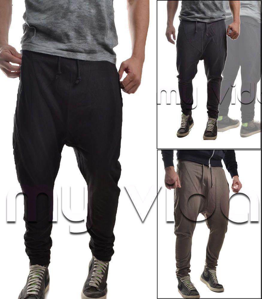 Pantalone Tuta Uomo Fitness Semplice Cavallo Basso Slim