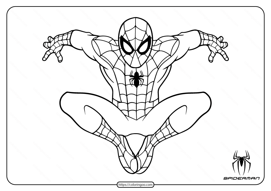 Marvel Spiderman Coloring Pages For Kids Spiderman Coloring Superhero Coloring Pages Spider Coloring Page