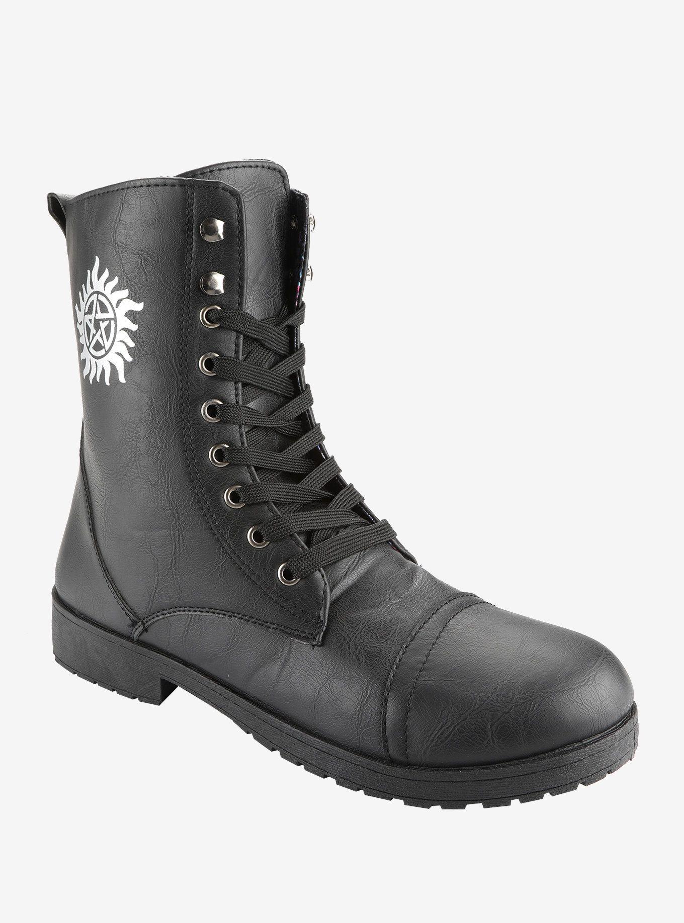 Supernatural AntiPossession Symbol Combat Boots Combat