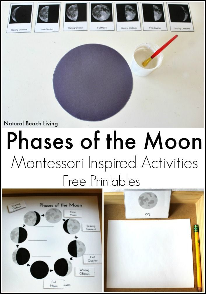 Mondphasen 2017 Moon Activities Montessori Astronomy | Outer Space Theme