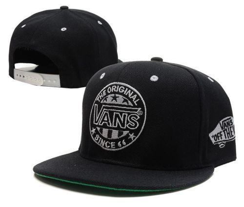 low priced 4e8b5 875b3 Vans-Snapback-Black-Old-School-Logo-Stitched-Skater-Surfer