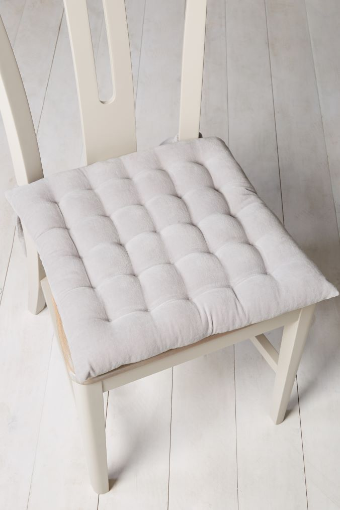 Next Velour Seat Pad Grey Seat Pads Seating Daybed Cushion