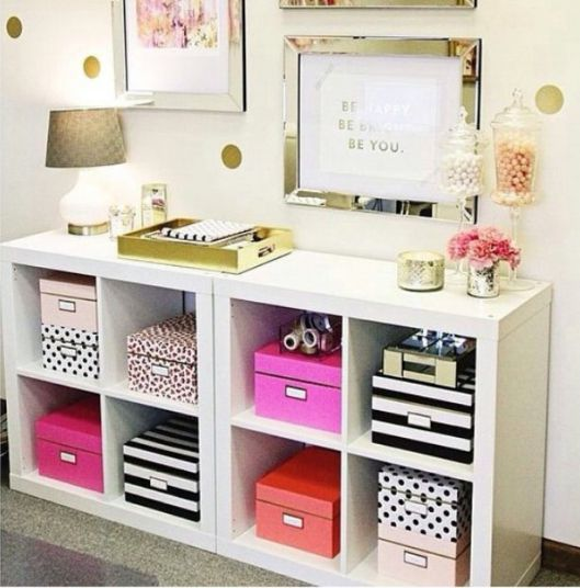 We're obsessed. Kate Spade Nesting boxes storage. (could be easy to make knock offs for cheap)
