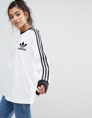 T Manches Longues À Shirt Adidas Trois Originals Bandes wTCqx5
