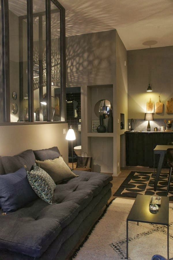 Un appartement gris tr s cosy sonia saelens d co - Appartement atypique studio persian primavera ...