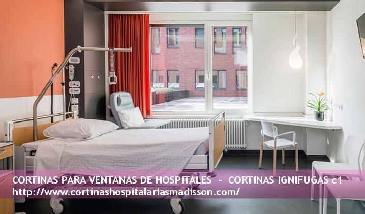 Cortinas ignífugas para ventanas en habitaciones de hospitales - cortinas para ventanas