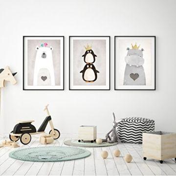 Photo of Frechdax® 3er-Set Kinderzimmer Babyzimmer Poster DIN A4 ohne Bilderrahmen | Mädchen Junge | Kinderpo