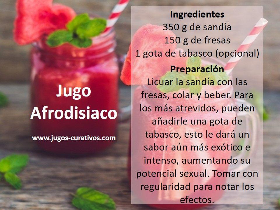 Jugo afrodisiaco con sandia | Drink bottles, Food, Vitamin water bottle
