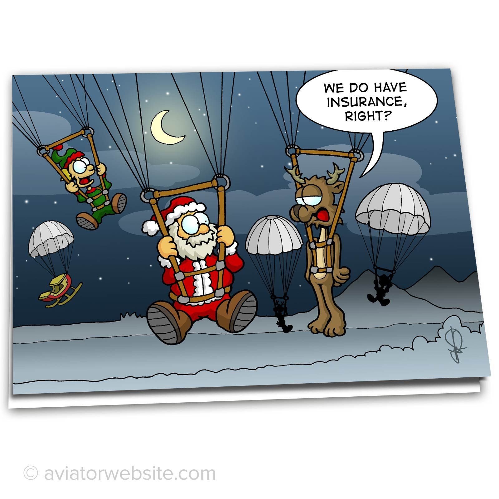 Aviation Christmas Card We Do Have Insurance Right 10 Cards Aviatorwebsite Funny Christmas Jokes Christmas Humor Christmas Humor Ecards