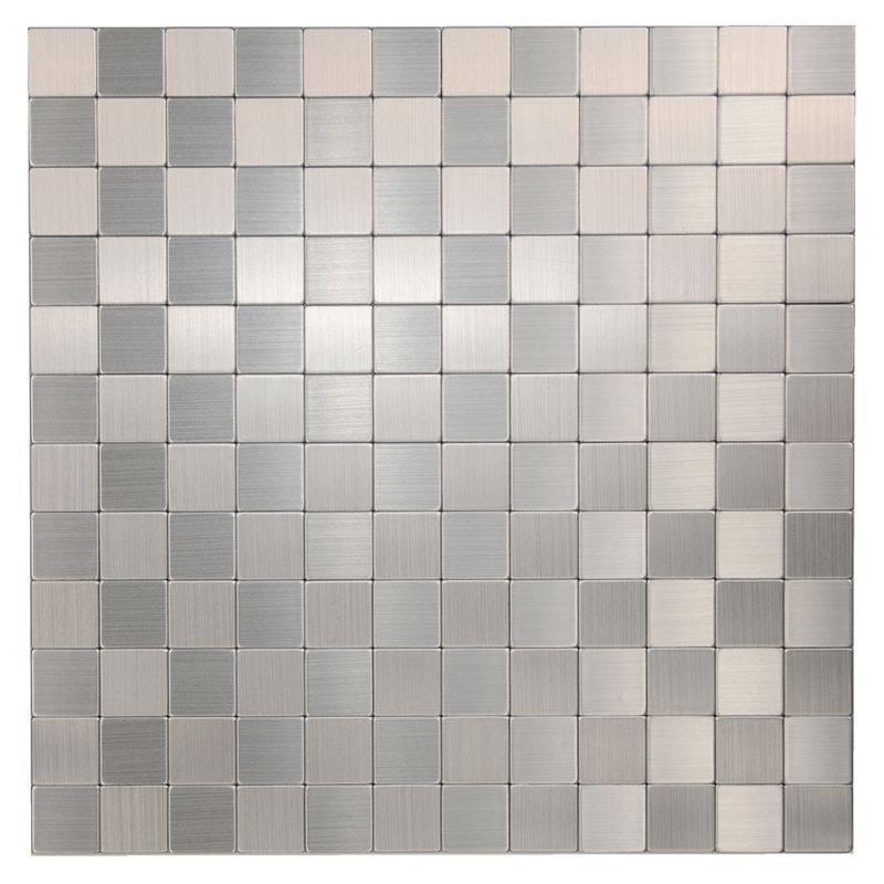 Find Coulson Tiles 30 5x30 5mm Aluminium 25x25 Square Peel And Stick Mosaic Tile At Bunnings Warehouse Visit Your Local Mosaic Tiles Tiny House Kitchen Tiles