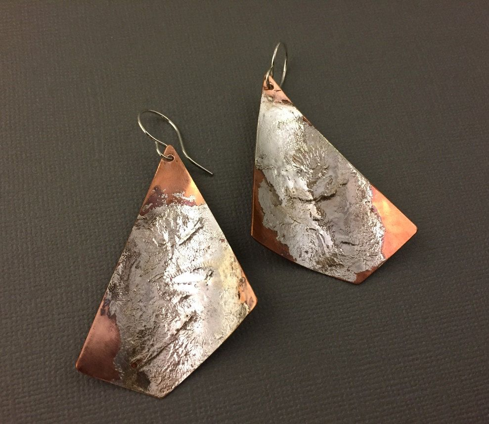 Pin By Buylonajewelry On Handmade Jewelry On Etsy That I Love In 2020 Copper Jewelry Handmade Earrings Handmade Dangle Handmade Silver