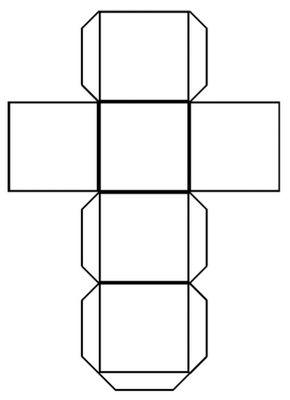 Cube Pattern Template Art Cube Cube Template Paper Cube
