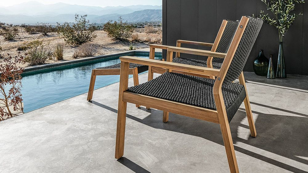 Post Modern Mid Century Styled Patio Furniture By Gloster; For Stylish,  Sleek Simplistic