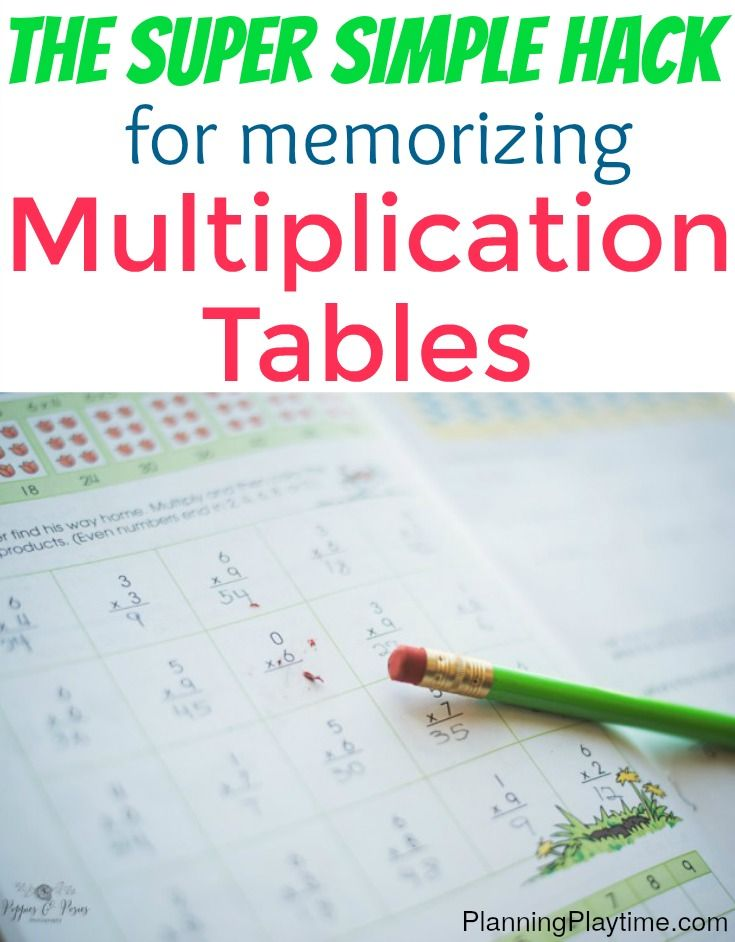 The Easy Way To Memorize Multiplication Tables An Amazing Hack A