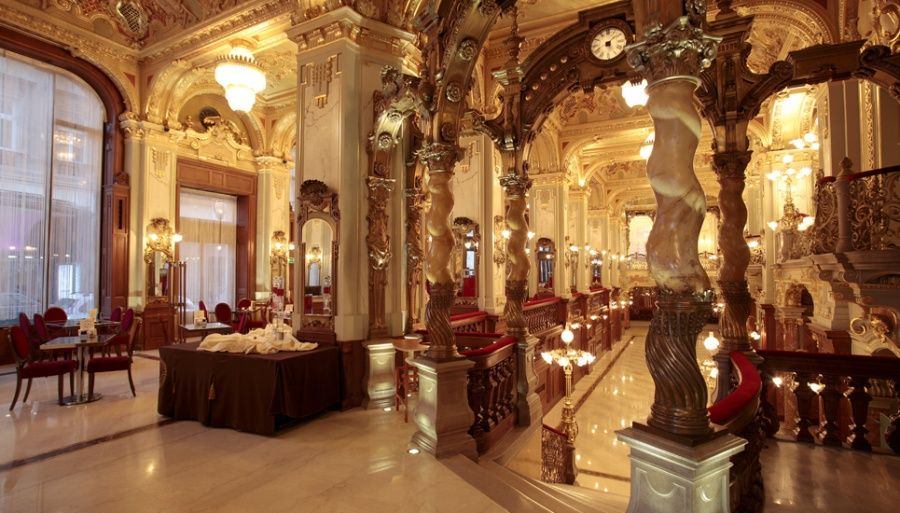 new york cafe budapest the most beautiful caf s of europe pinterest the o 39 jays budapest. Black Bedroom Furniture Sets. Home Design Ideas