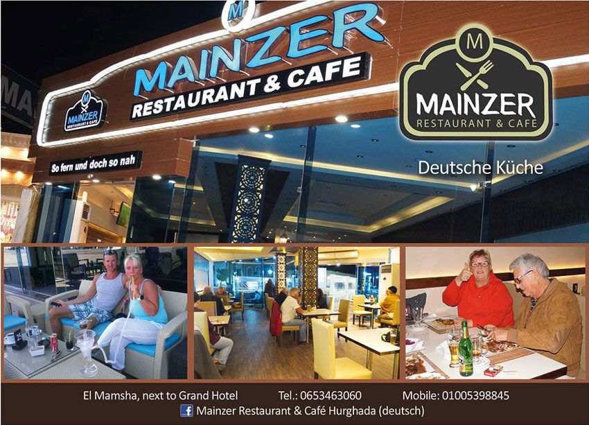 Mainzer German Restaurant Recently Opened On Mamsha Promenade Became Quickly The Favorite Of Germans And Other European F Restaurant European Food Hurghada